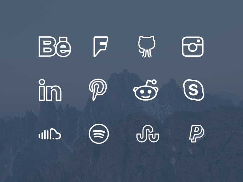 Simple Line Icons Font