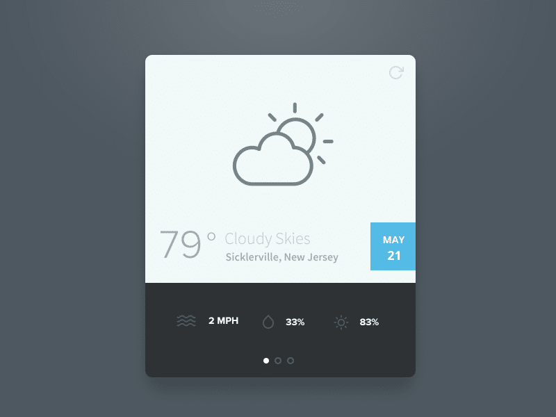 Simple Weather Widget PSD