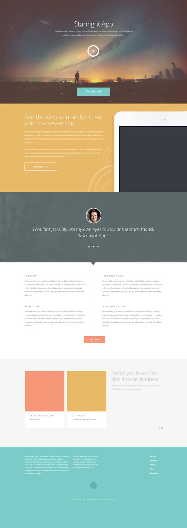 Starnight – PSD website template