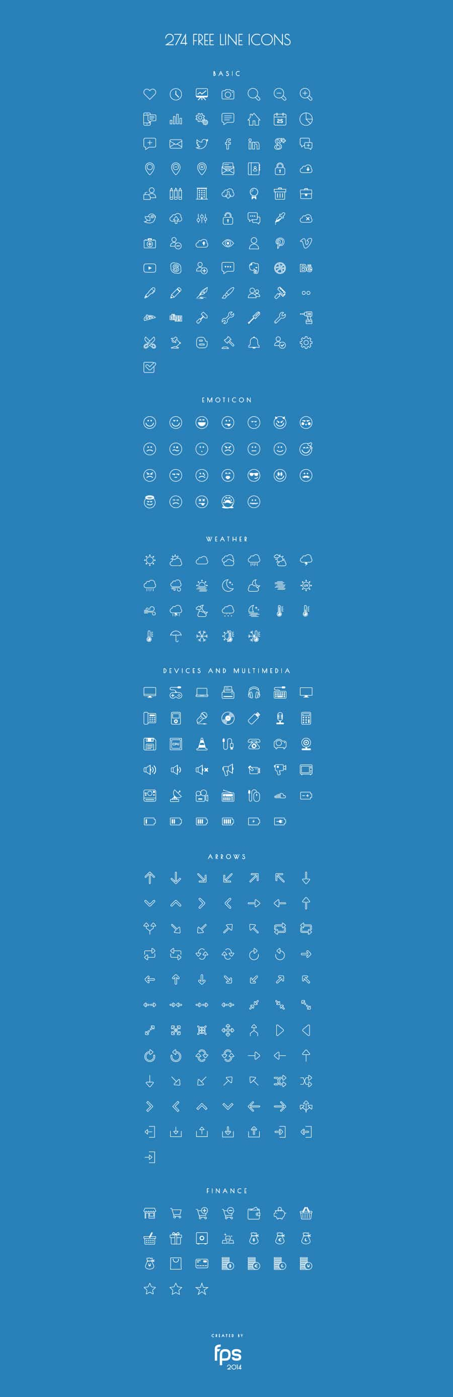 Vector Line Icons Font