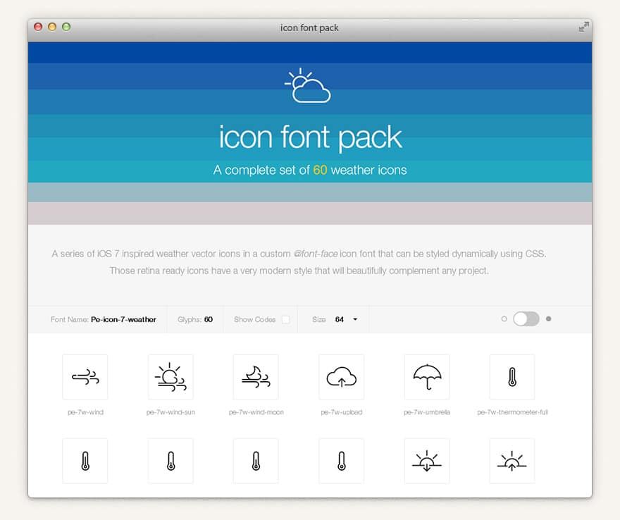 Weather 7 Icon Font