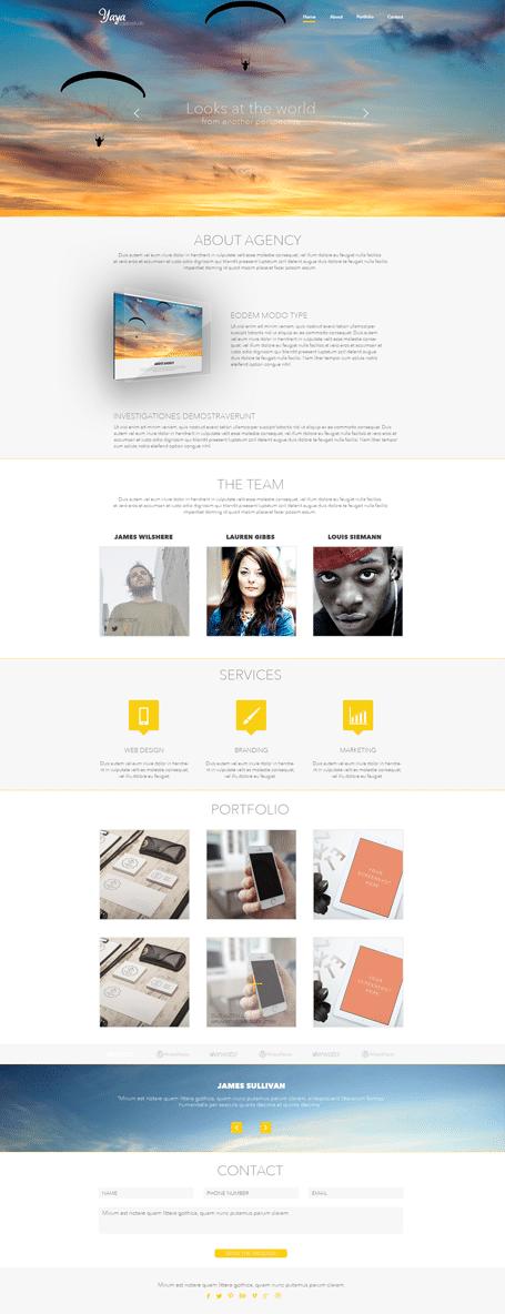 Yaya – CreativeStudio Onepage Template