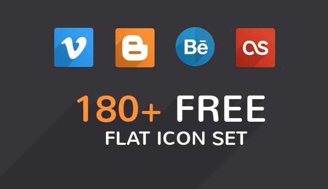 180+ Free Flat Icon Sets