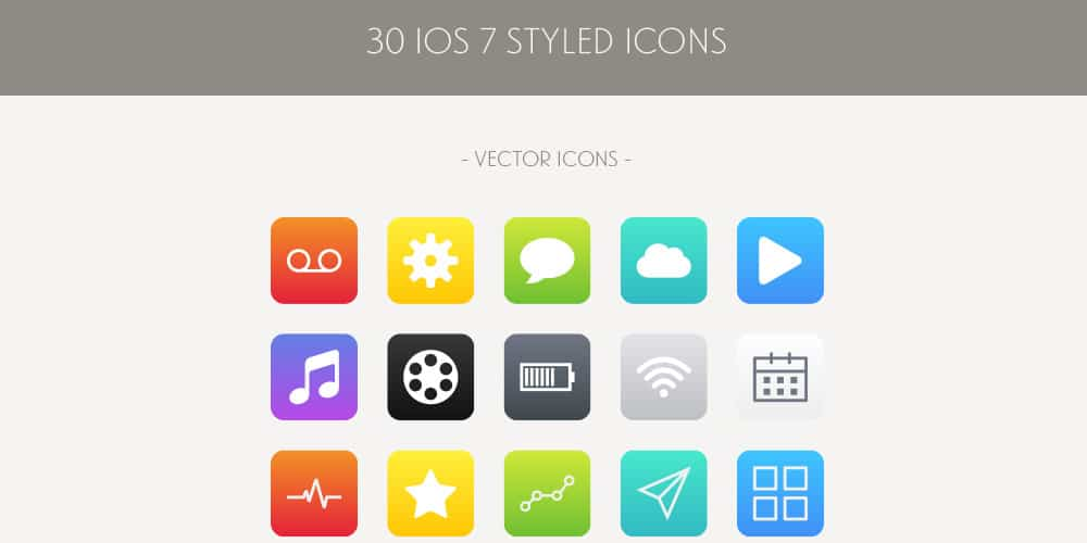 iOS Styled Vector Icons