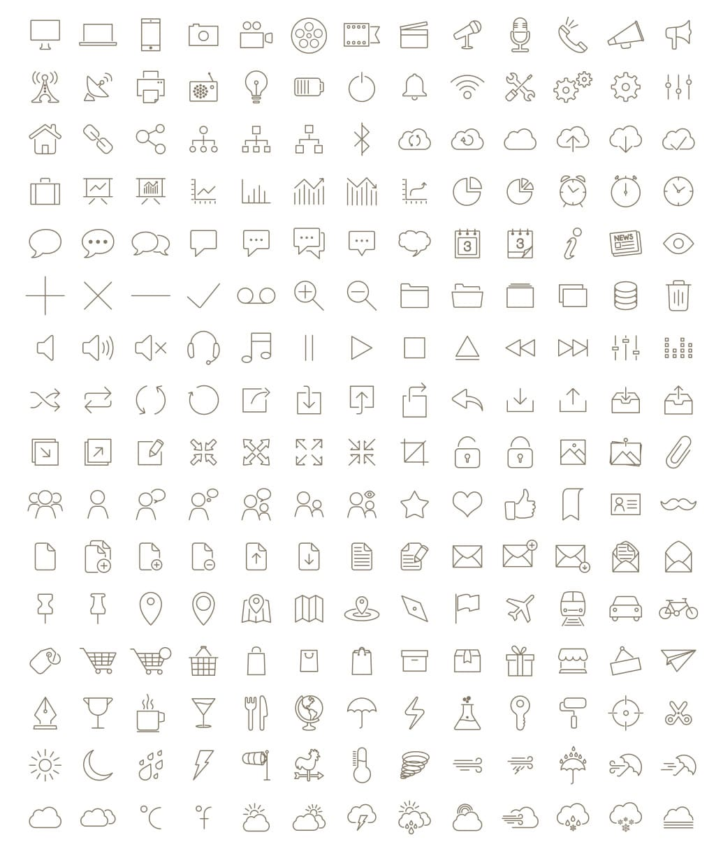 outline icon free font