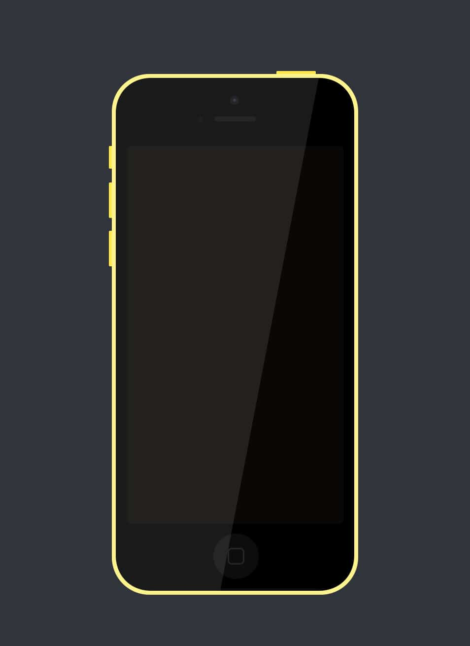 A Simple iPhone 5c (PSD)