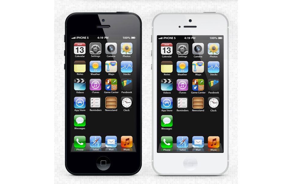Apple iPhone 5 PSD