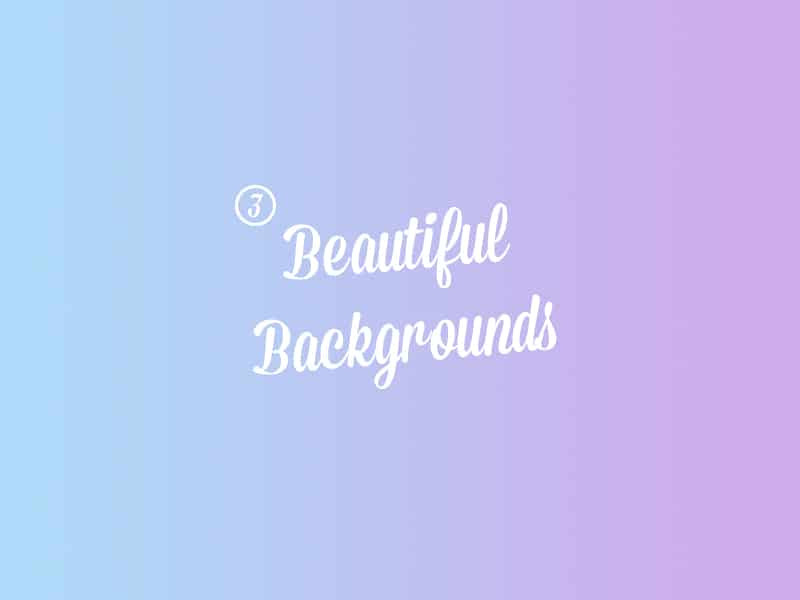 Beautiful Backgrounds PSD