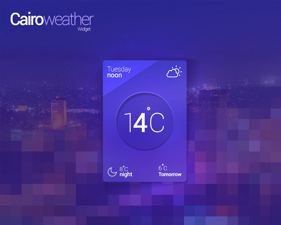Cairo Weather Widget PSD
