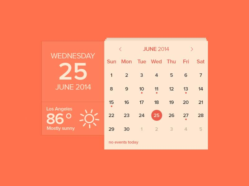 Calendar & Weather Widget