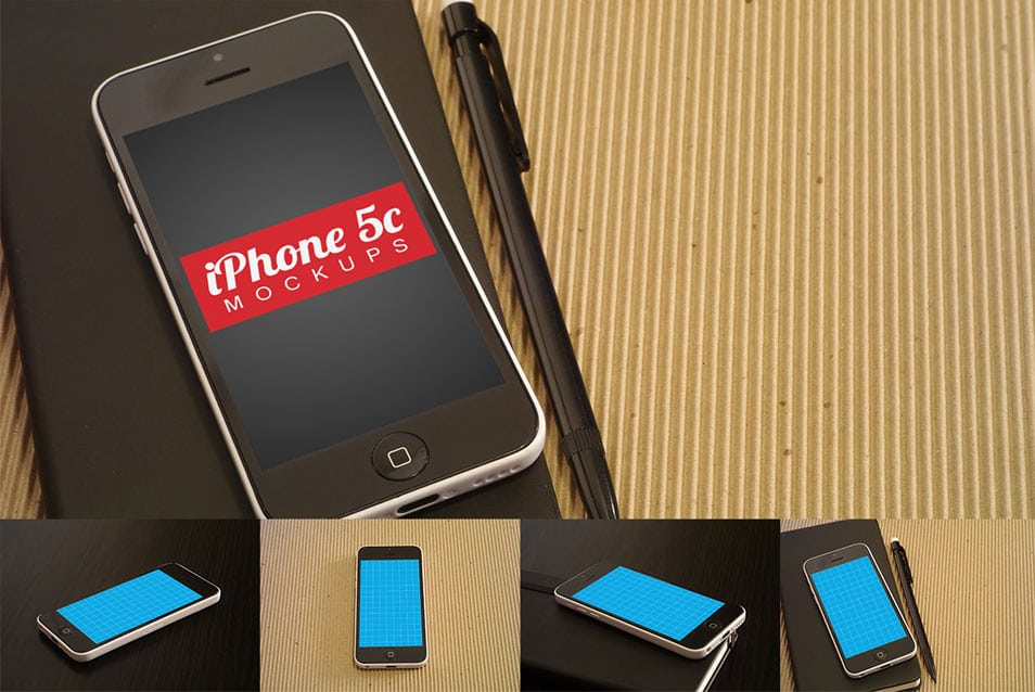 Clean iPhone 5c Mockups