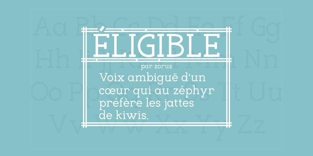Eligible Font