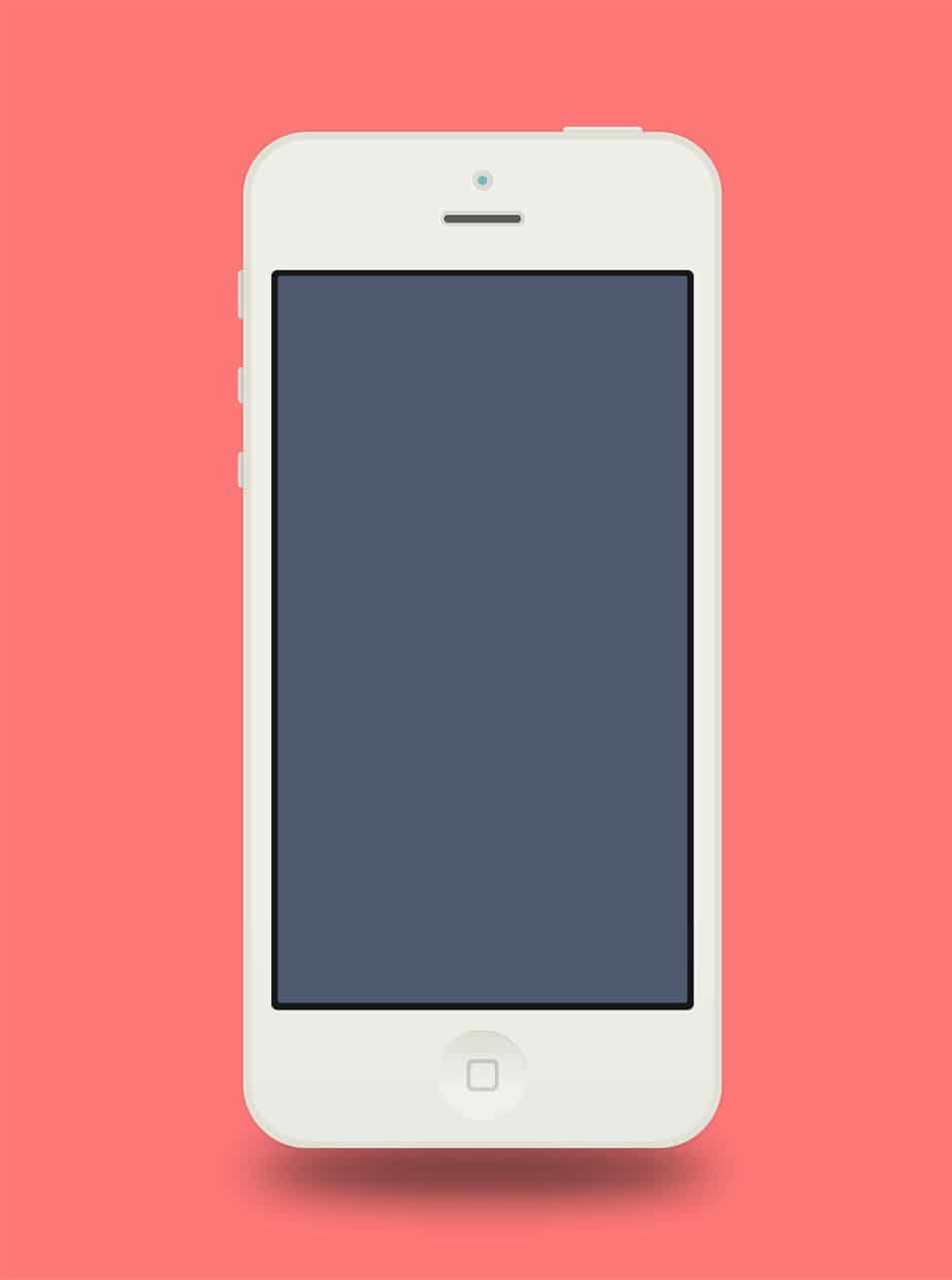 Flat iPhone 5 Adobe Fireworks Template