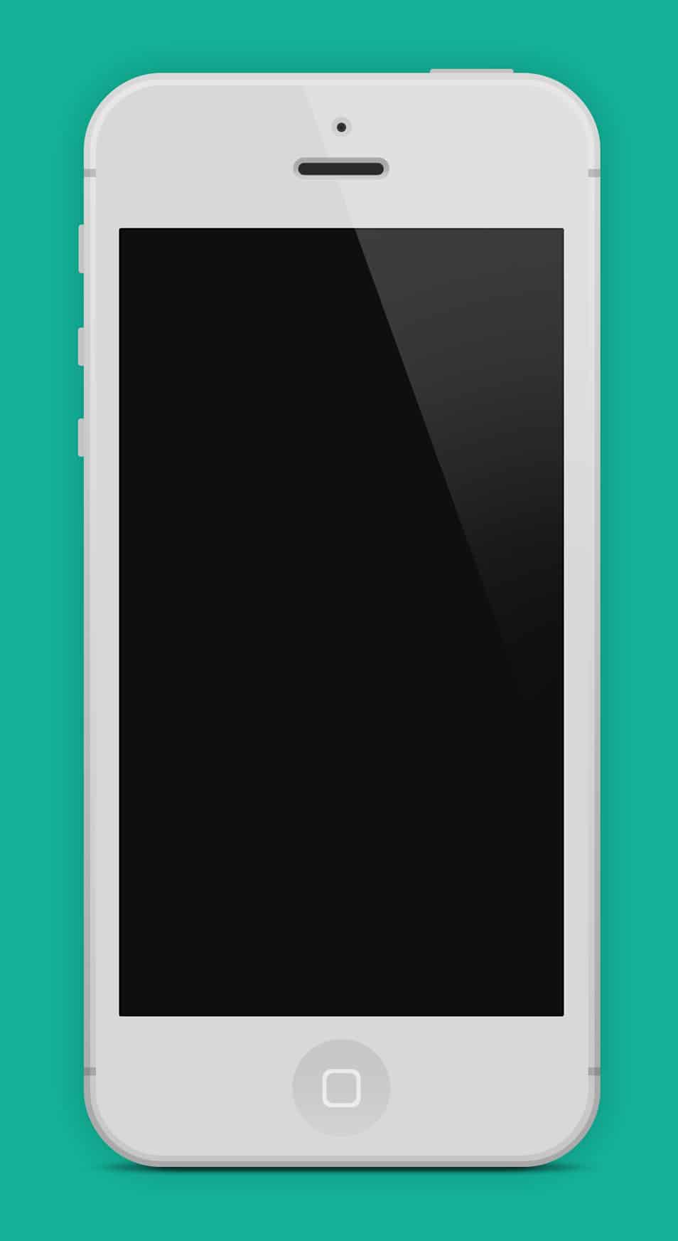 Flat iPhone 5 Black & White PSD