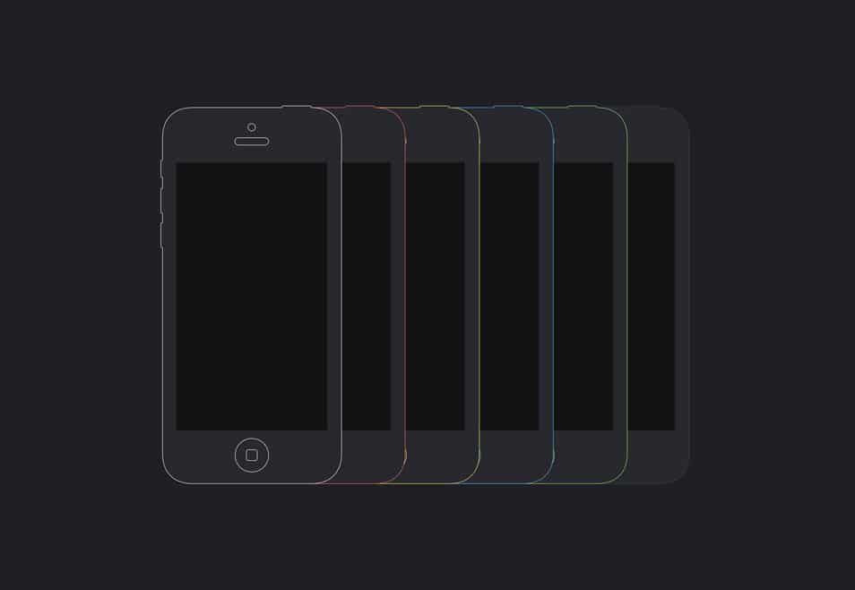 Flat iPhone 5C Mockup Template