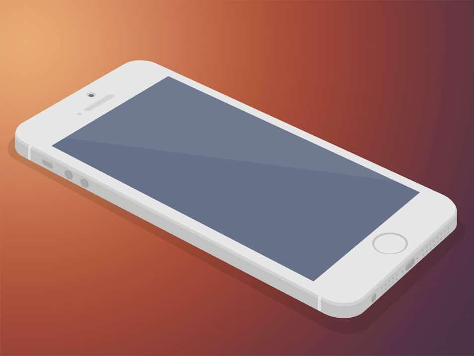 Flat iPhone 5s 3D Mockup