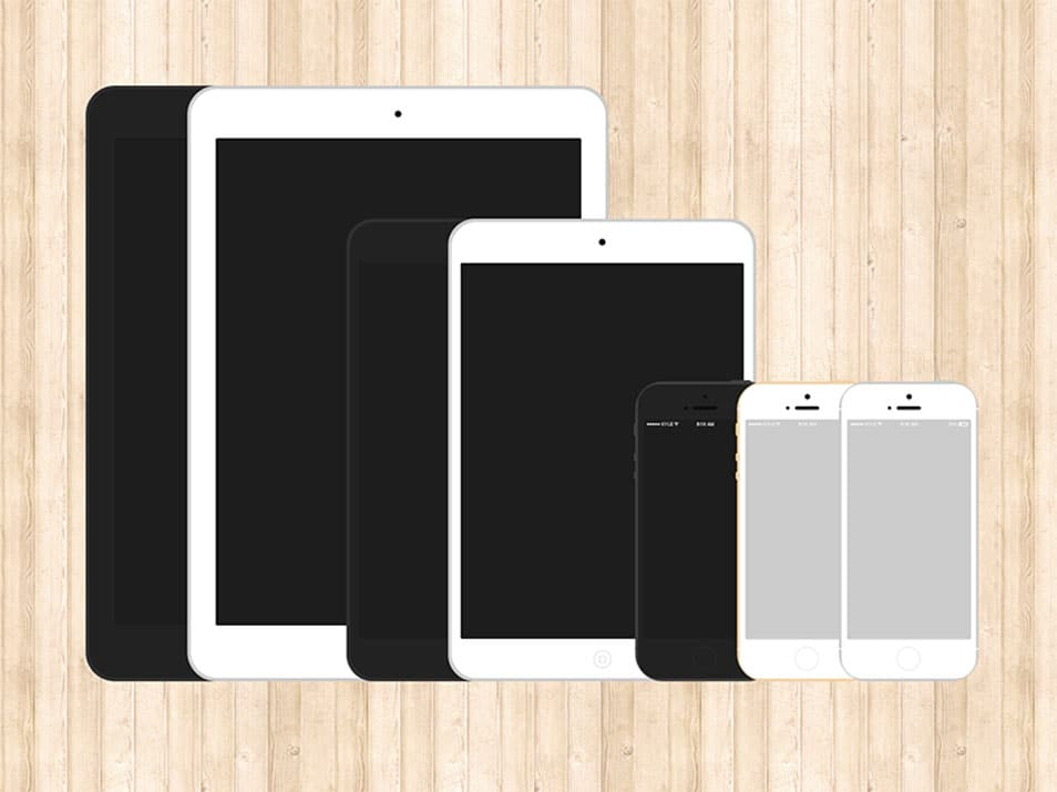 Flat iPhone 5s & iPad Templates