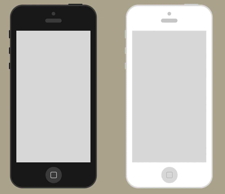 Flat iPhone Wireframe Freebie