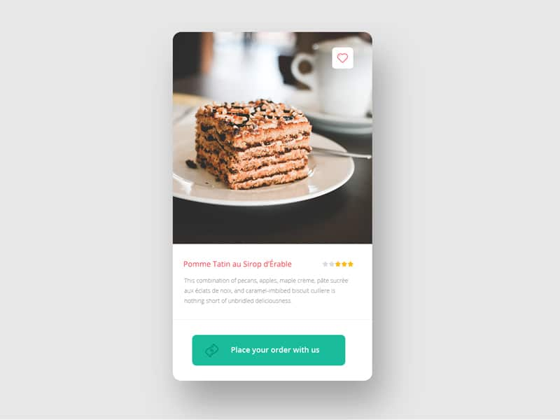 Free Card Widget PSD