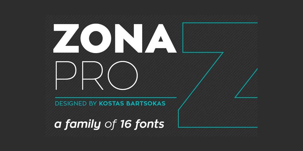 Free Font Zona Pro