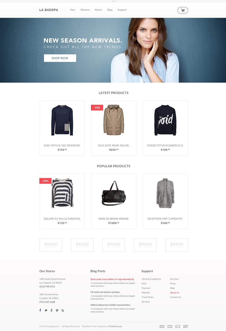 Free Ecommerce Web Templates PSD » CSS Author