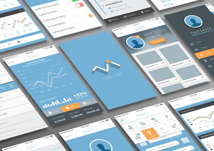 Free-Statistics and Analysis App UI PSD
