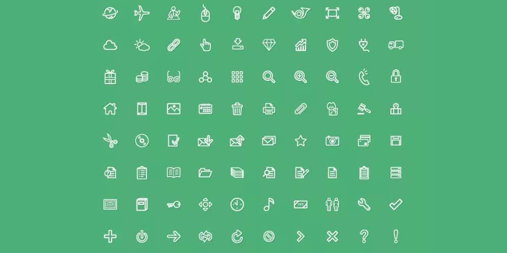 Free Universal Line Icons