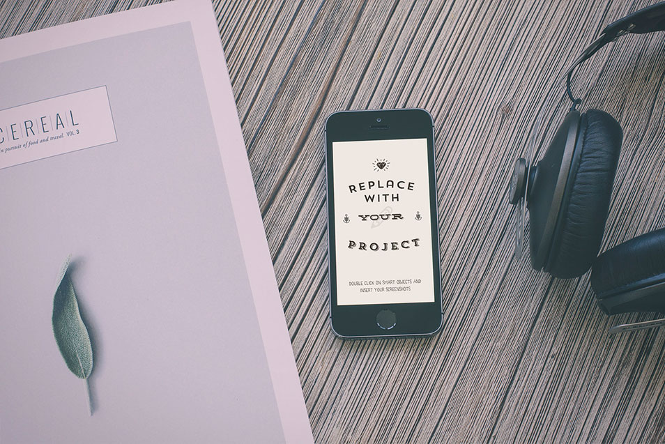 Hipster Style iPhone Mockup Template