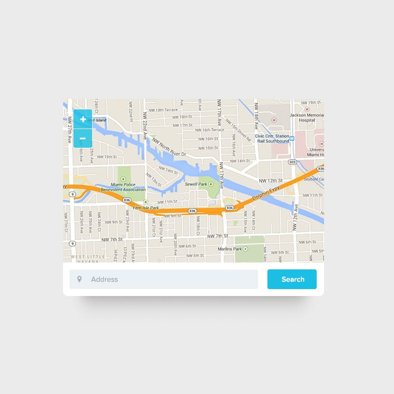 Map Widget PSD