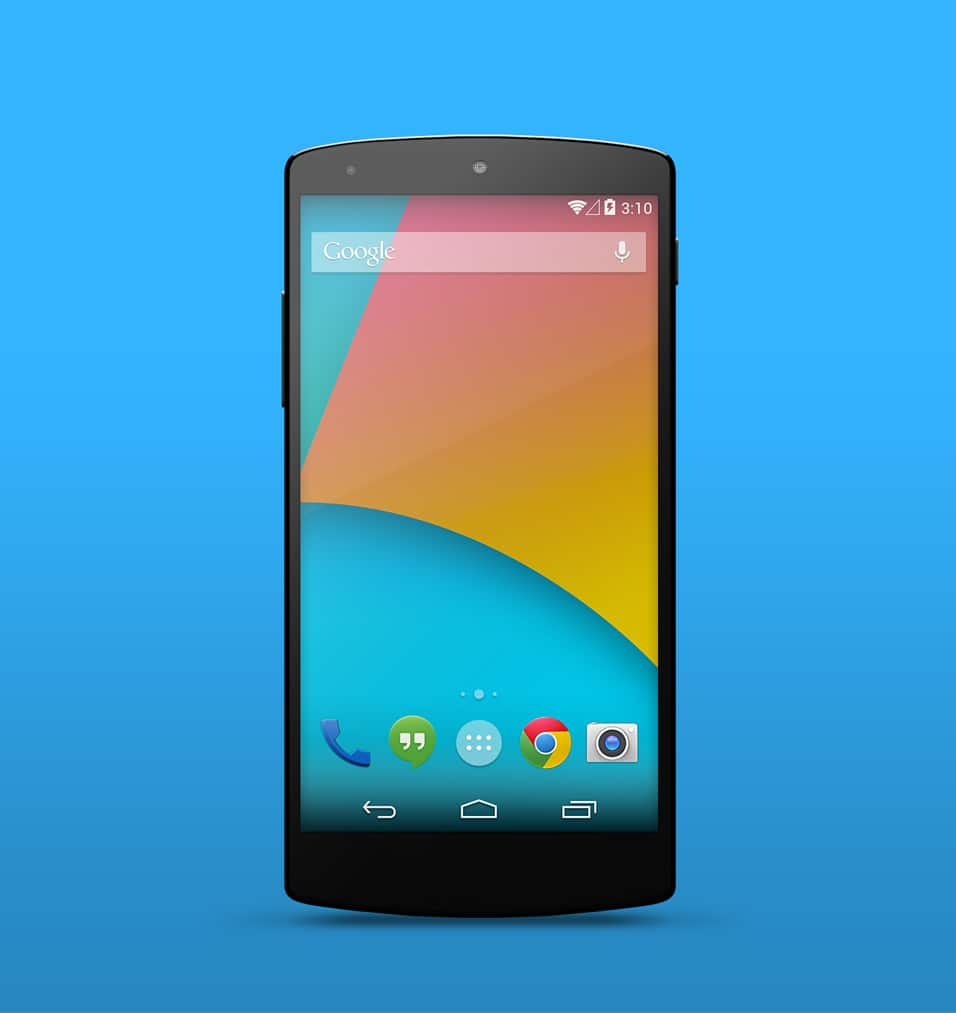 Nexus 5 Mockups Free PSD
