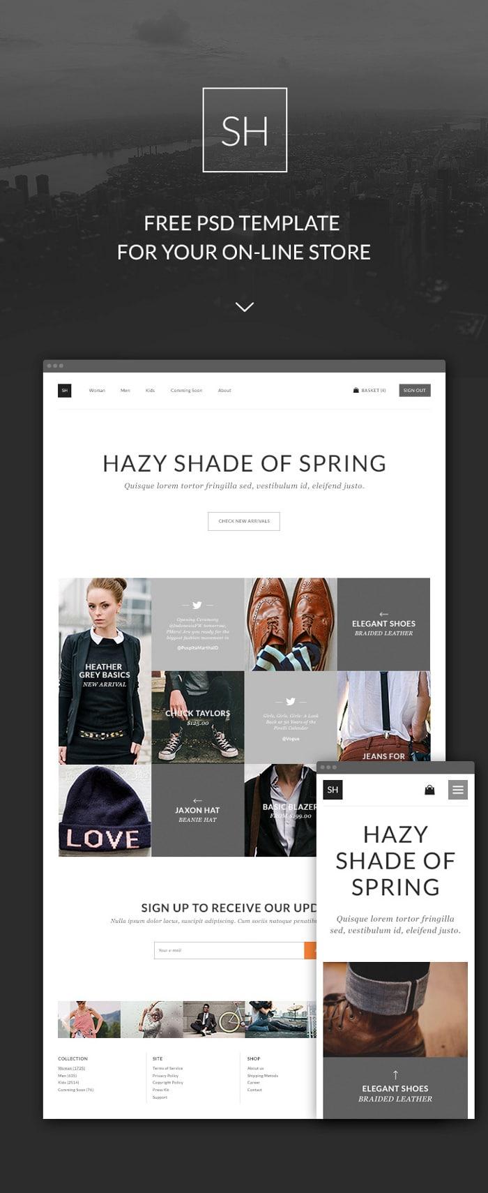 Online clothing store website builder