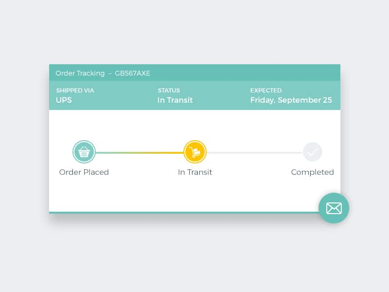 Order Tracking Widget PSD