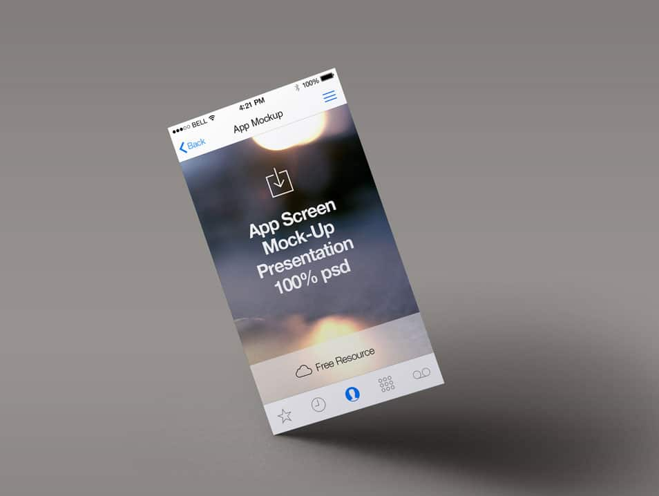 Perspective App Screen Mock-Up 4