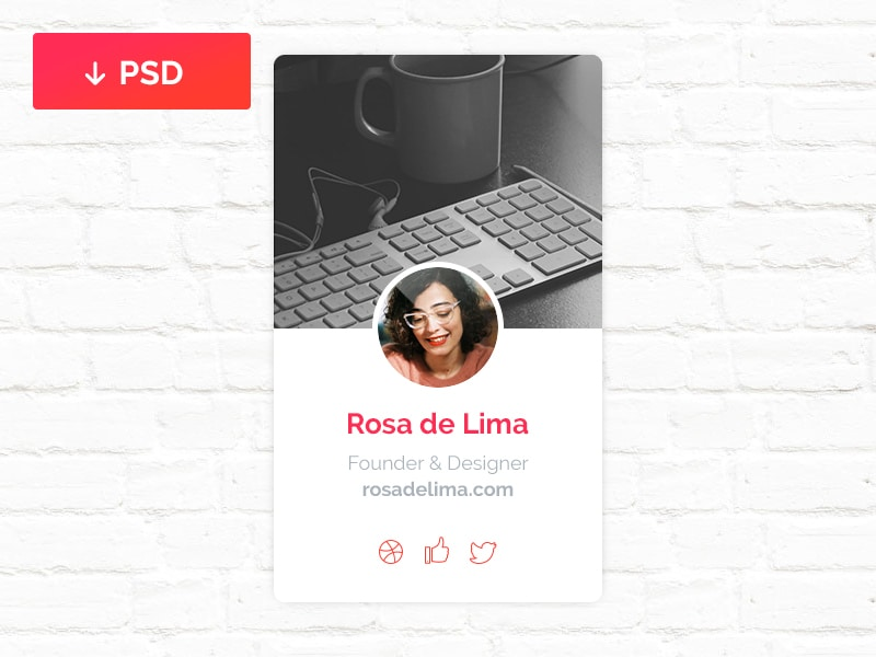 Profile Widget PSD
