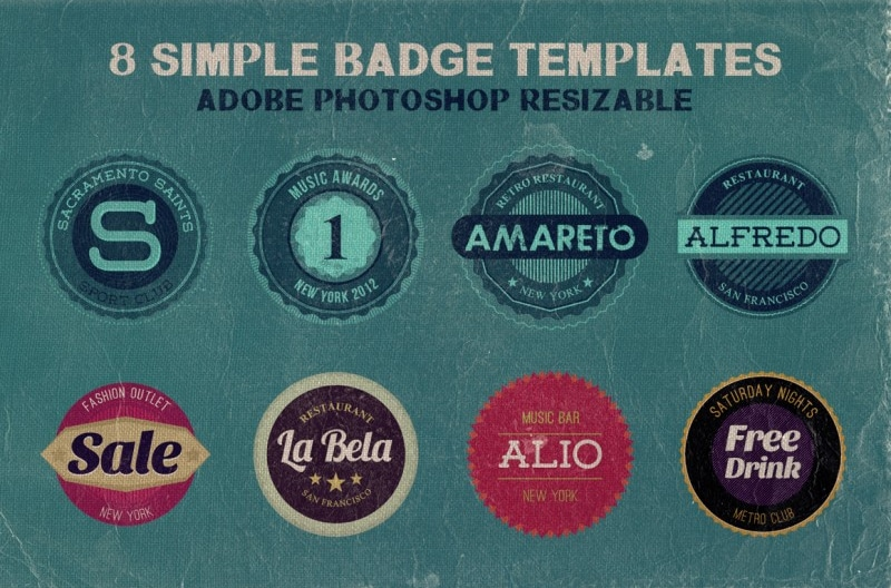 Simple Badge Templates