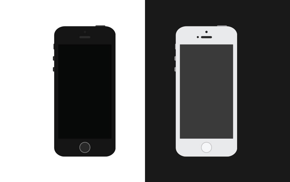 Simple Flat iPhone 5S Vector