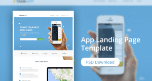 App Landing Page Website Design PSD – Freebie No:145