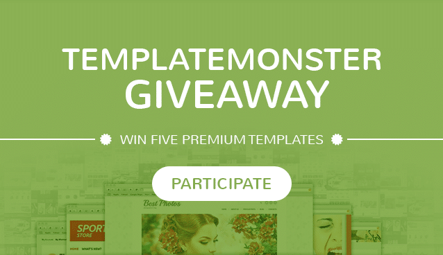 TemplateMonster Giveaway: Win Five Premium Templates