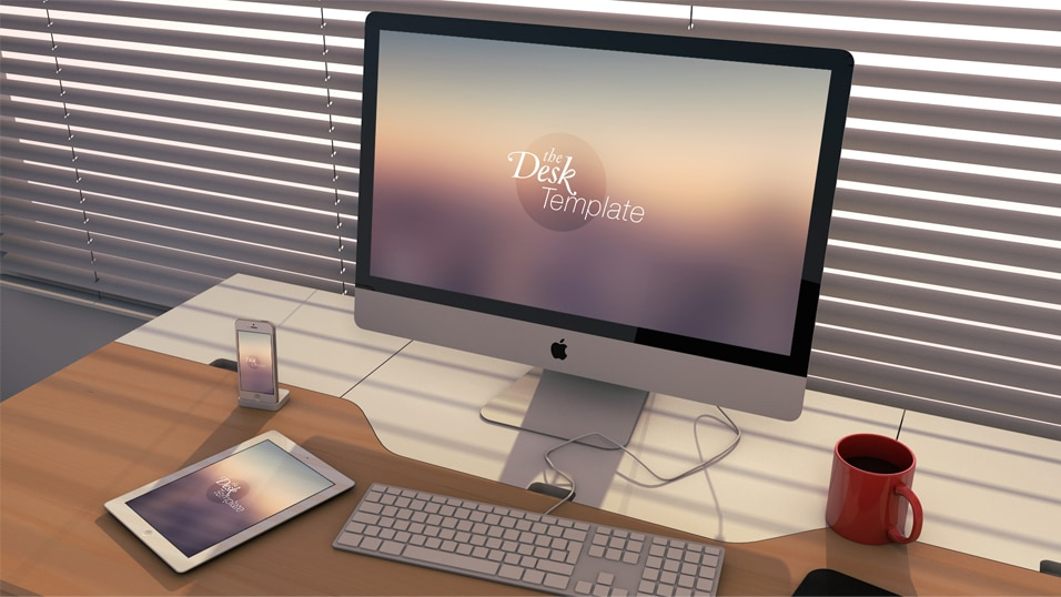 The Desk Template PSD