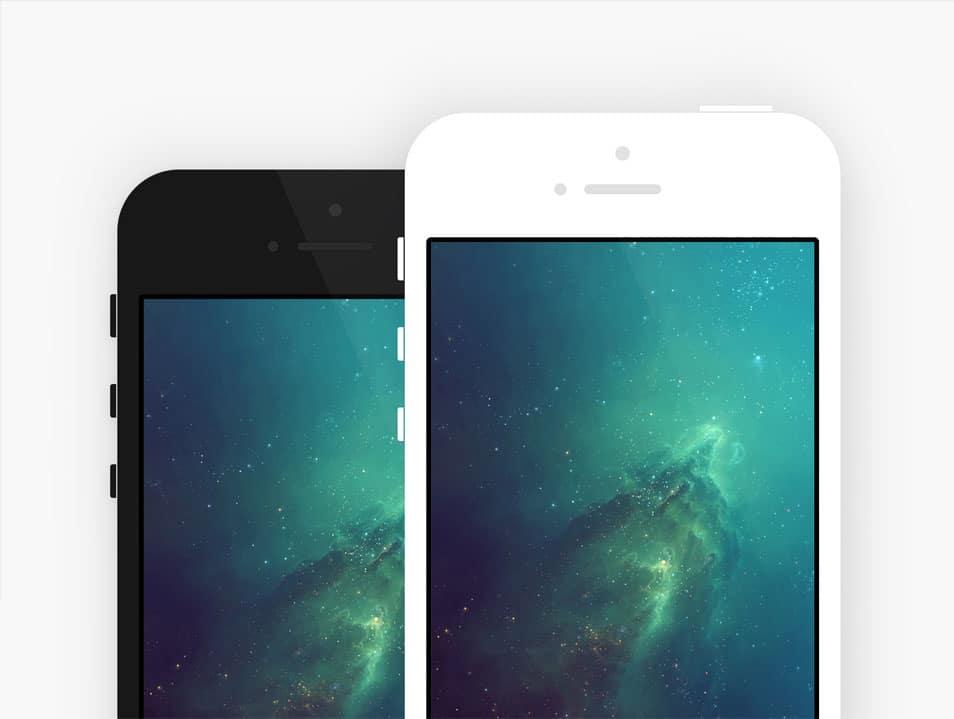 iPhone 5S Minimal Mockup