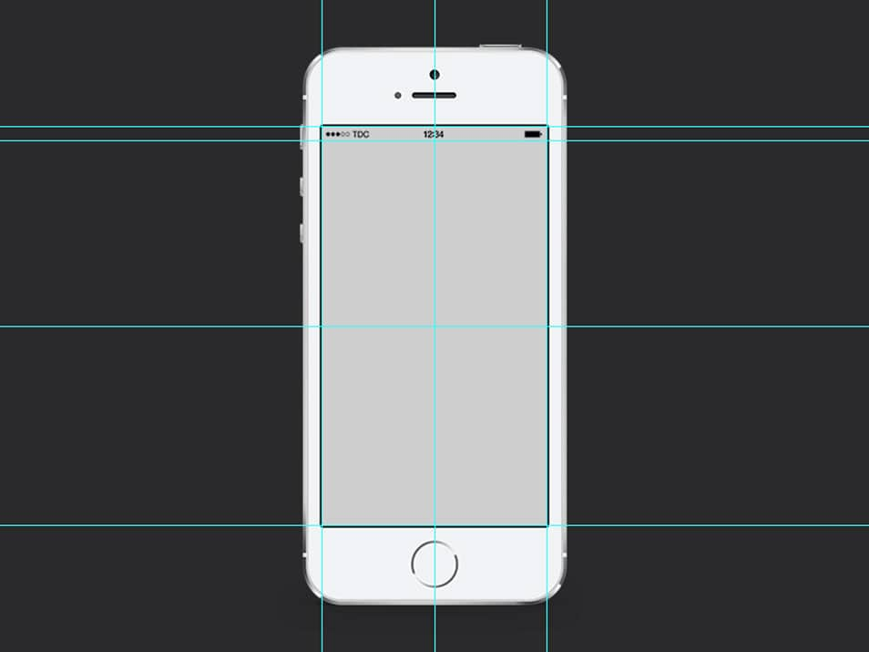 iPhone 5S Mockup PSD