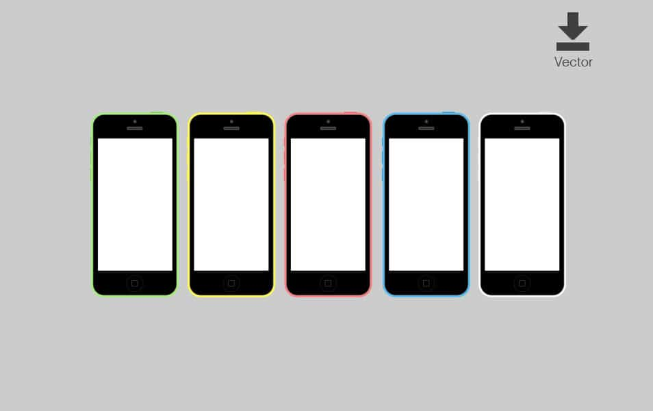 iPhone 5c Vector Download
