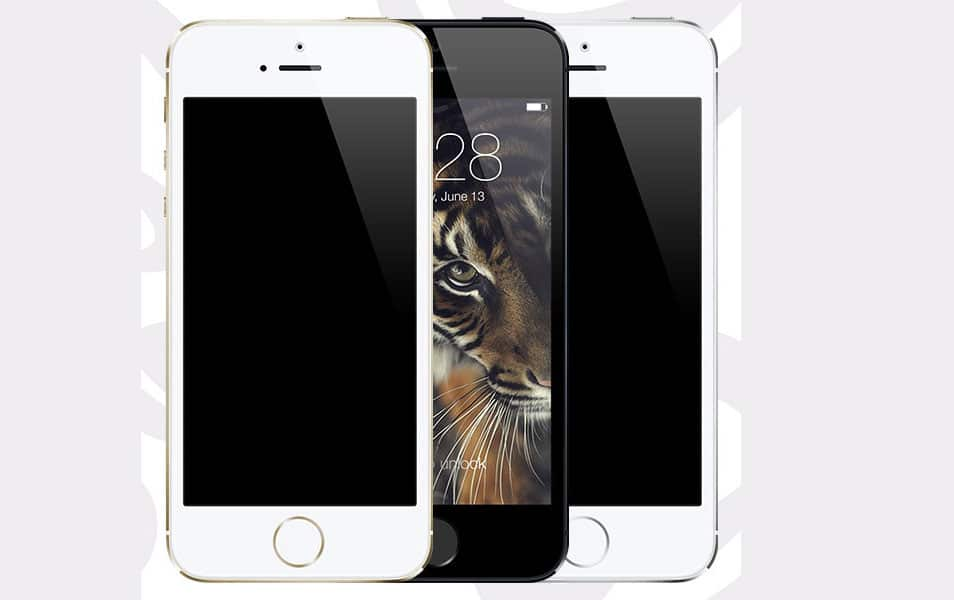 iPhone 5s PSD ( Gold - Black - Silver )