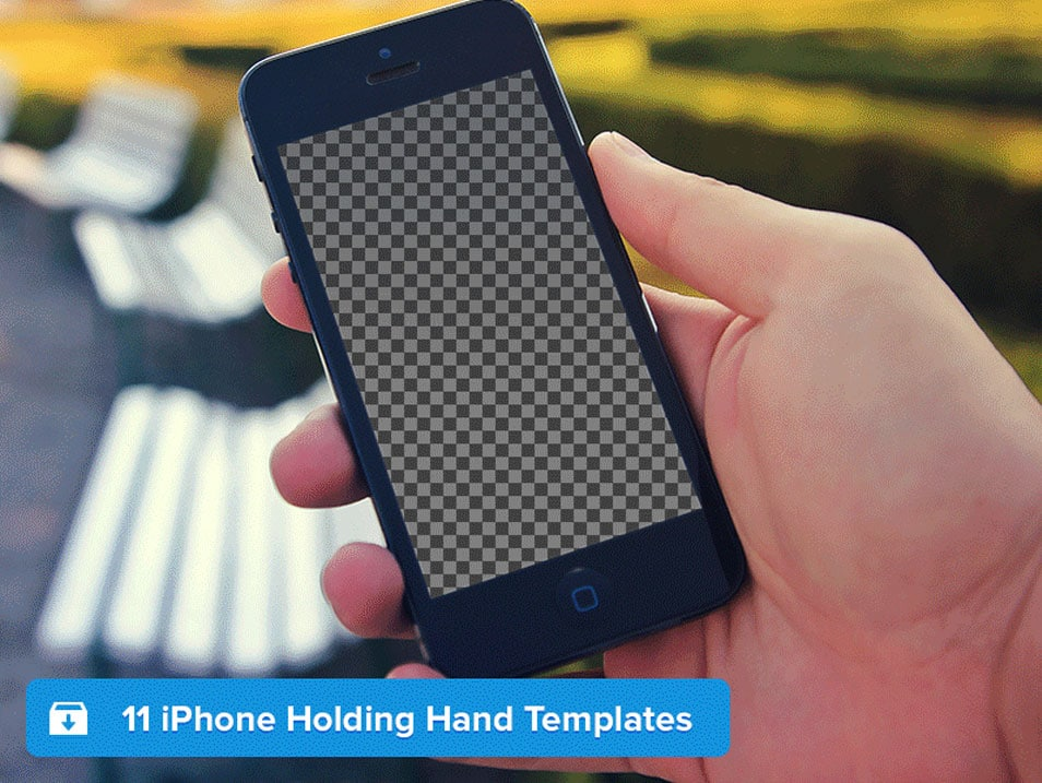 iPhone Holding Hand Templates PSD
