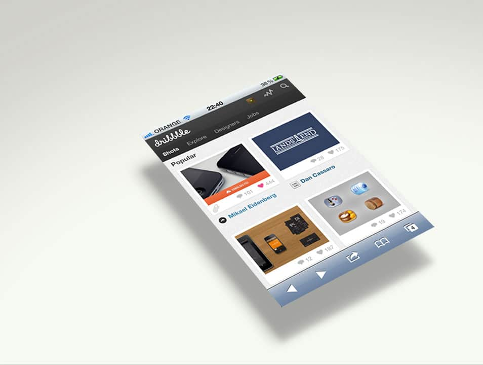 iPhone template Smart Object Mockup