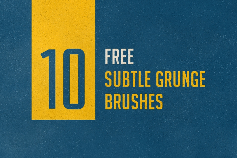 10 free subtle grunge brushes for Photoshop