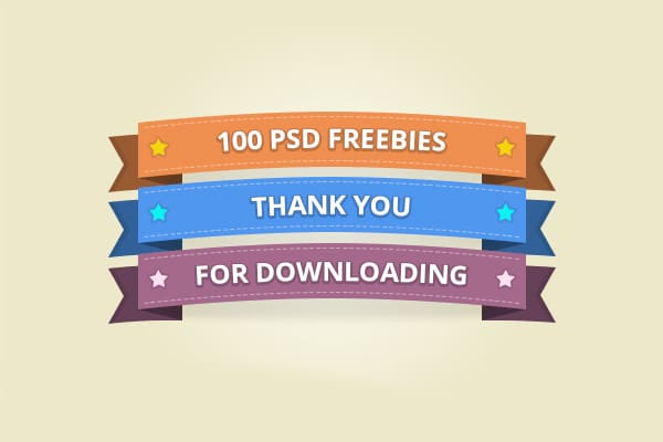 100 Free Vector Ribbons