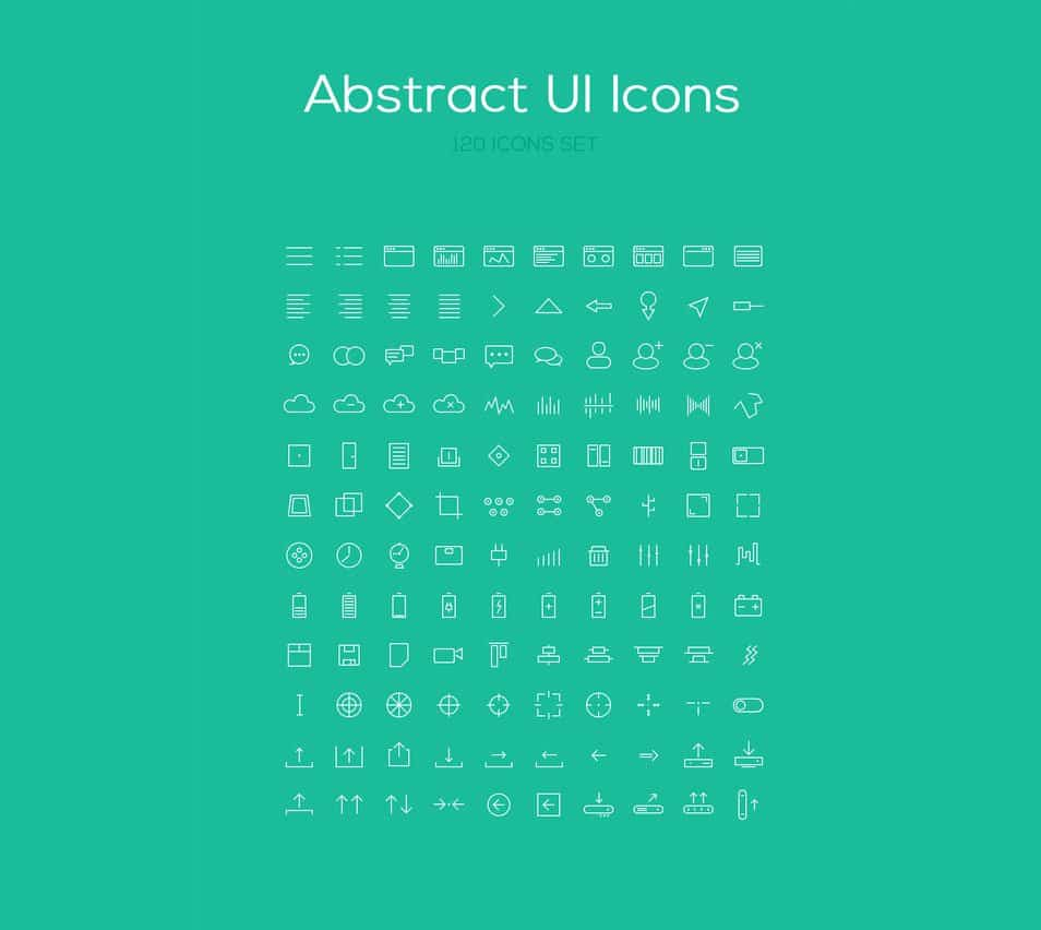 120 Abstract Icon Set