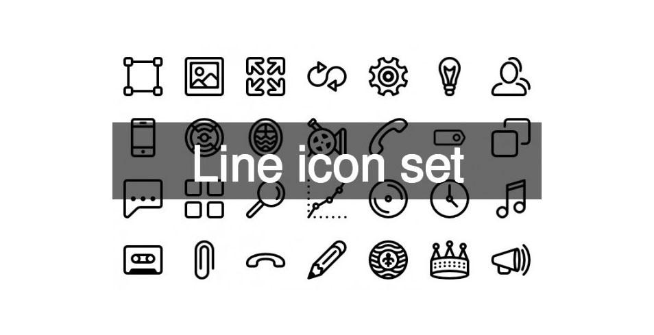 122 line icons set