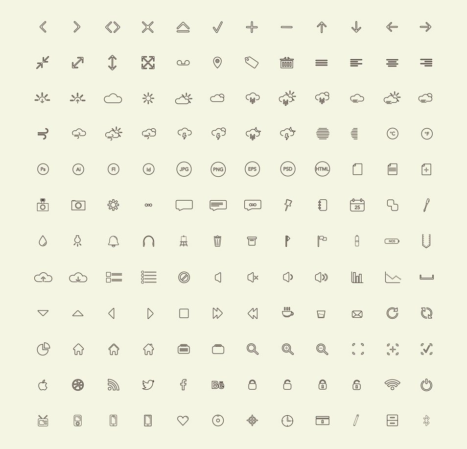 144 Free Vector Icon Set